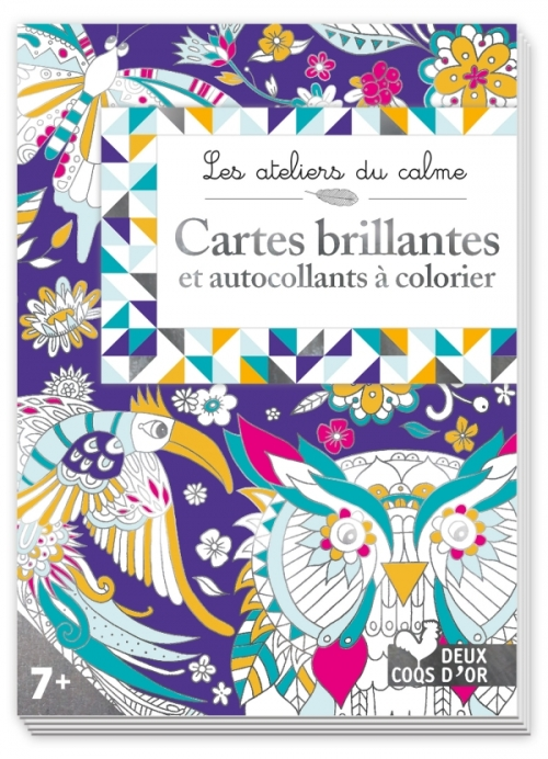 Cartes brillantes à colorier