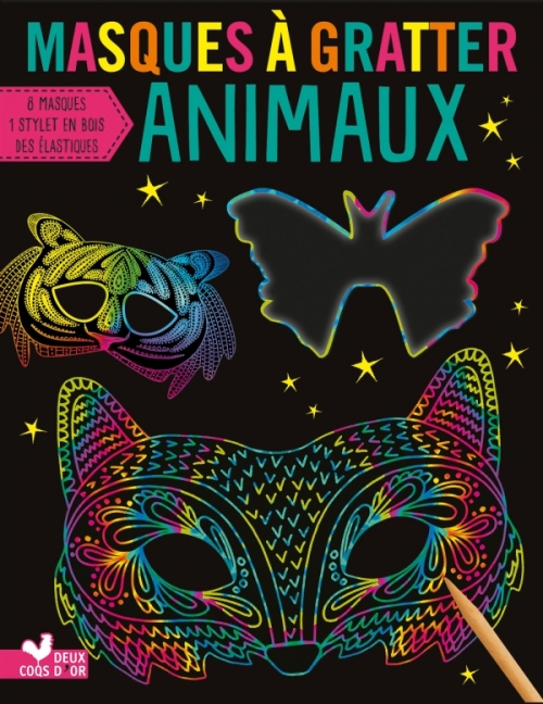 Masques à gratter - Animaux